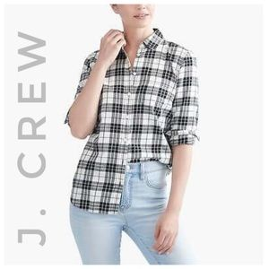 J CREW plaid flannel button down